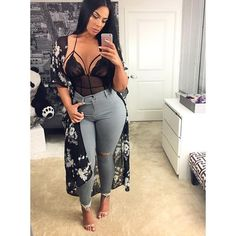 best Plus Size Fashion Outfits Curvy Outfits, Plus Size Outfits, Fall Outfits, Summer Outfits, Fashion Outfits, Casual Outfits, Jeans Fashion, Fashion Top, Big Girl Fashion