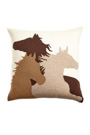 Taupe Horse Pillow