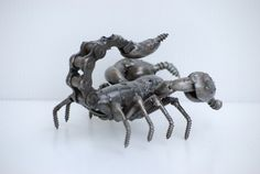 Scorpion modelo de escultura de Metal de chatarra reciclado