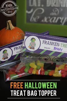 Halloween Treat Bag Printable – Franken-Treats!