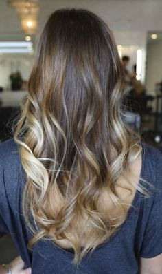 I do believe I want my hair to be more like this.... Just need to add the lighter blonde and carmal