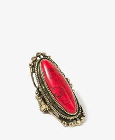 Crackled Oval Stretchy Ring   FOREVER21 - 1023882241