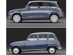 this redesign draws from the designer's childhood impression of the renault but adds modern updates to its body and interior. it was shortlisted from over 3200 submissions in designboom's RENAULT 4 EVER competition. Motorcycle Garage, Motorcycle Design, Carros Suv, Lego Cars, Pt Cruiser, Futuristic Cars, Small Cars, Car Car, Retro