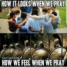 Prayer Warrior: Nothing formed against us shall stand! For the One who is within you is greater than the one in this world! Christian Humor, Christian Life, Funny Christian Quotes, Christian Warrior, Bible Verses Quotes, Faith Quotes, Caleb Et Sophia, Jw Meme, Power Of Prayer