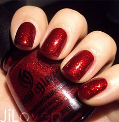 This is my latest nail polish obsession. The color is absolutely amazing in person.  CG Ruby Pumps :)