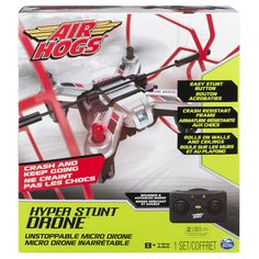 Air Hogs Hyper Unstoppable Micro Remote Control Stunt Drone - Red #AirHogs