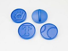 MLB Licensed 4 piece Texas Rangers Plastic Cookie Cutter Set * To view further, visit now : Baking Tools and Accessories
