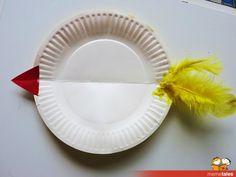 Simple Rocking Chicken Craft for Kids