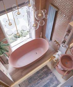 Bad Inspiration, Bathroom Inspiration, Interior Inspiration, Aesthetic Rooms, Beautiful Bathrooms, Dream Bathrooms, Luxurious Bathrooms, Girl Bathrooms, Bathroom Interior Design