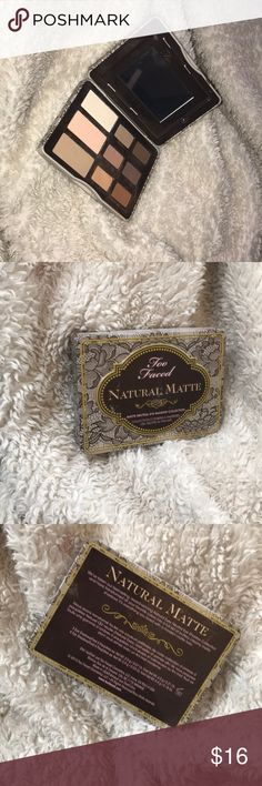 Too faced natural matte eyeshadow pallete New too faced pallete great for natural eye looks and more complements all eye shapes and diversity. Edit: I will negotiate just make an offer!! ❤️❤️ Too Faced Makeup Eyeshadow