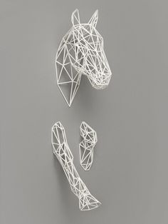 Equus ($119): This 3D-printed horse majestically gallops out of your walls to add a futuristic touch to an otherwise plain wall.