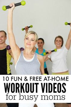 If you want to get back into an exercise routine, but can't find the time now that you're a mom, these 10 fun (& free!) at-home workout videos for busy moms are exactly what you need! | healthy life idea