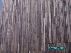 Detail houten gevelbekleding - abdij Herkenrode, Limburg