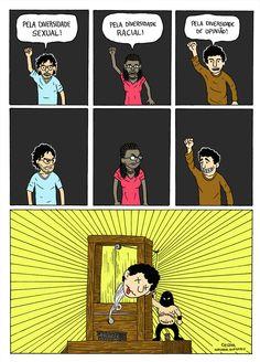 Luta pela diversidade, por Cesar Andrade.
