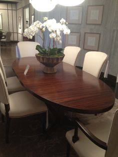 Missing Product   Dining Spaces   Pinterest   Oval dining tables     High Point Market Oval Dining Table by Mr  Howard for Sherrill Furniture    I would love this to be my dining room table