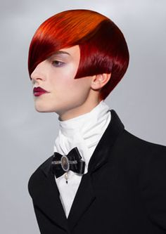 Pinned onto Red short hairstylesBoard in Red short Category 2 Tone Hair Color, Short Hair Cuts, Short Hair Styles, Competition Hair, Edgy Hair, Hair Shows, Mode Outfits, Hair Art, Cut And Color