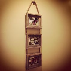 Picture Frames with Rope by HerMadeUpWorld on Etsy