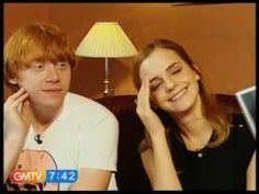 "Emma Watson and Rupert Grint talk about their kiss on Harry Potter and about their ""chair areas"" i <3 this!!"