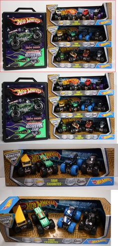 Diecast Toy Vehicles 51023: Hot Wheels Monster Jam 4 Tour Series Monster Trucks Or 3D Storage Case Hold 15 -> BUY IT NOW ONLY: $39.95 on eBay!