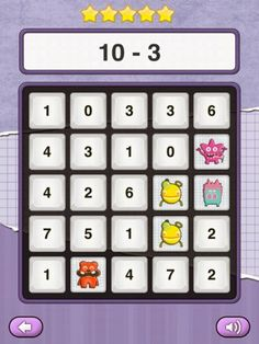 Fantastic FREE app: Mat Monster Bingo.  Easy to differentiate.  All 4 basic operations offered at 3 different levels.  Great for K-4