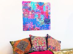 ABSTRACT COLOR LOVE Original Canvas by ColorMelissa on Etsy