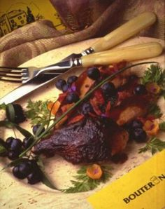 Roast Duck with Blueberry Sauce » US Highbush Blueberry Council #littlechanges