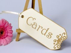 """Ivory Oversized Double-layered Luggage Style Tag """"cards"""" (15 X 7.5cm) By Paper Baker (ivory & Manilla)"""