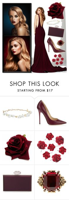 """Untitled #26"" by selena-sok on Polyvore featuring Robert Rose, Jimmy Choo, Judith Leiber, Alexander McQueen, beautiful and Flowers"