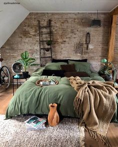 Rustic Boho Loft The decoration of home is similar to an exhibition space that reveals our tastes and design ideas and then we naturally . Room Ideas Bedroom, Home Decor Bedroom, Modern Bedroom, Contemporary Bedroom, Master Bedroom, Bedroom Designs, Bedroom Romantic, Bedroom Simple, Bedroom Curtains