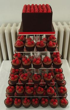 Chocolate Mouse with Raspberries! AHHHH this looks so good. Mini Desserts, Sweet Desserts, Just Desserts, Dessert Recipes, Dessert Bars, Mini Cakes, Cupcake Cakes, Cup Cakes, Cake Fondant