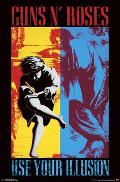 Nice Concert Poster x Guns N' Roses Use Your Illusion Music Print Batman Poster, Star Wars Poster, Guns N Roses, Rock Posters, Vintage Concert Posters, Vintage Posters, Poster Pink Floyd, Posters Online, Poster Stranger Things