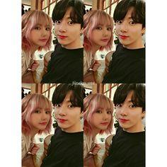 """682 Suka, 14 Komentar - BTS & Eunha (@jiinsky_vee) di Instagram: """"🐰😄😳📸 . . . #eunkook #eunha #jungkook #💜"""""""