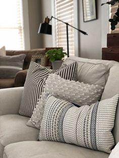 gray farmhouse pillows living room decor target, target home Living Room Remodel, Home Living Room, Apartment Living, Living Room Furniture, Neutral Living Rooms, Target Living Room, Living Area, Target Bedroom, Cozy Living