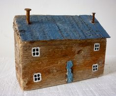 Cottage with blue roof   -   Kirsty Elson Designs  ... and this one! :)