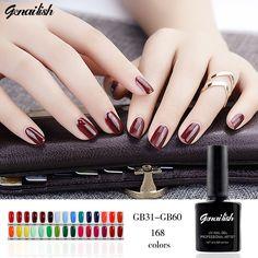 168 Colors Nail Gel Nail Polish UV Gel Polish Long-lasting Soak-off LED UV Gel Nail Gel 10ml/Pcs Nail Art Tools genailish-GB22