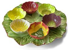 Flower Garden Seder Plate by Mustardseed and Moonshine (South Africa)