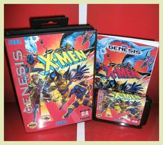 X -Men US Cover with box and manual For Sega Megadrive Genesis Video Game Console 16 bit MD card