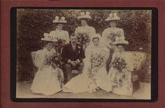 'Ada Rowland' Bridesmaids Groom Bride Hats Wedding  cabinet  photograph qd183