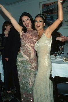 Fran Dreshler and Salma Hayek