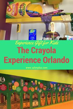 The Crayola Experience Orlando should be at the top of your list of experience gift ideas for kids. A family friendly travel review.