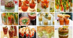Ricetta bicchierini salati Buffet, Bocconcini, Fresh Rolls, Finger Foods, Appetizers, Stuffed Peppers, Vegetables, Ethnic Recipes, Party