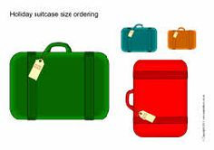 Holiday suitcase size ordering (SB4773) - SparkleBox