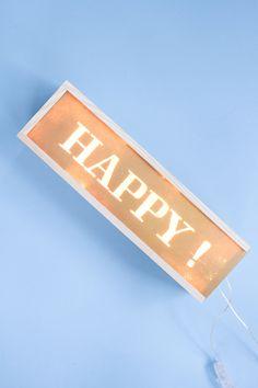 DIY-lightbox-002 Diy Luminaire, Idee Diy, Happy Day, Home Deco, Diy Wedding, Diy Furniture, Diy Crafts, Lightbox, Party