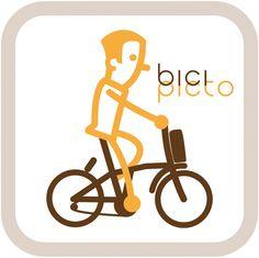 pictograma bicicleta plegable
