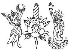 Sentient Tattoo Collective is a tattoo shop in Tempe, AZ. Walk-in tattoos welcome. Line Art Tattoos, Tattoo Flash Art, Side Foot Tattoos, Vintage Tattoo Art, Tempe Arizona, Tatuagem Old School, Tattoo Design Drawings, Desenho Tattoo, Tattoo Stencils