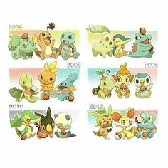 The years some of the starter gens were released