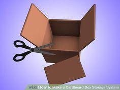 Image titled Make a Cardboard Box Storage System Step 2Bullet1