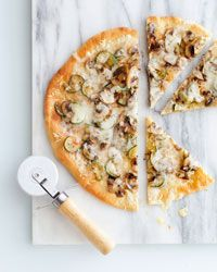 Mushroom, Zucchini, and Swiss-Cheese Pizza // More Fantastic Pizzas: http://fandw.me/a8o #foodandwine