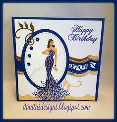 Danita's Designs!!! : Glamorous Birthday Card