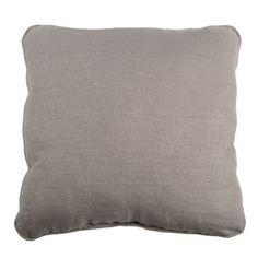 coussin d houssable uni 100 lin 50x50cm toile lin toile and poufs. Black Bedroom Furniture Sets. Home Design Ideas